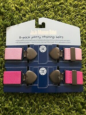 NEW Toddler Belts Pink Jojo Maman Bebe Potty Training Baby 2pack BNIP Girls
