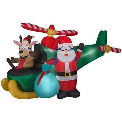 Airblown Lighted Animated Fishing Santa With Marlin Santa In