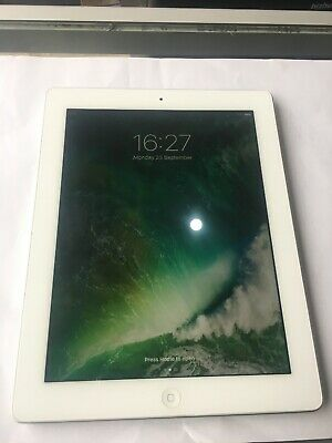 "Apple iPad 4th Generation 16GB WiFi 9.7"" Retina Display White  Silver A1458 Good"