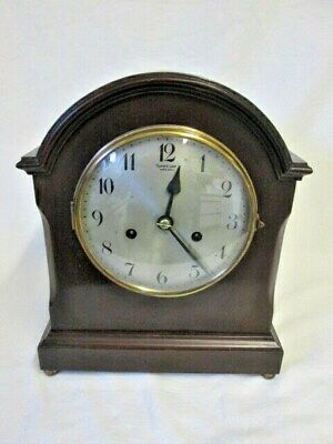 A Mahogany CB Chiming Mantel Clock Retailed By James Carr Aberdeen