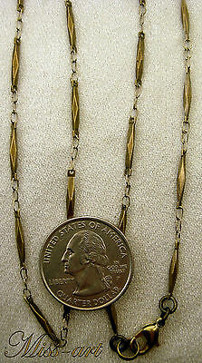 SOLID BRASS Vintage NOS Faceted Links Bronze Chain Necklace ALL SIZES Miss-art