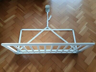 BabyDan Wooden Bed Guard Rail White - Cost £43.00. Excellent Condition!