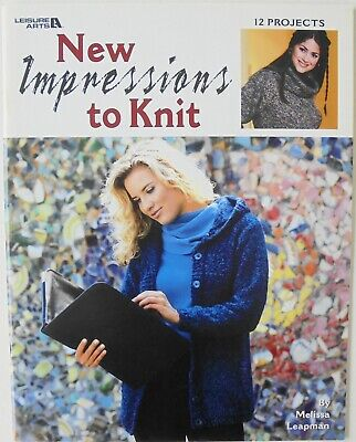 Leisure Arts New Impressions To Knit Knitting Book-Melissa Leapman-12 Lady Desig