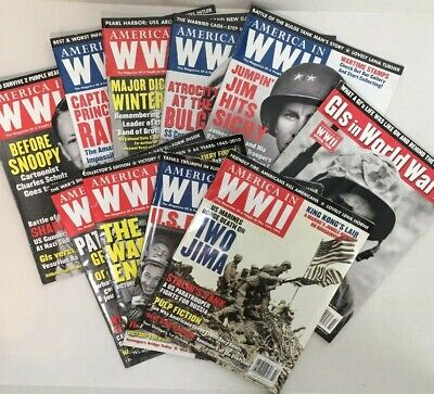 Vintage America in WWII magazine, lot of 10 issues, 20010-2012