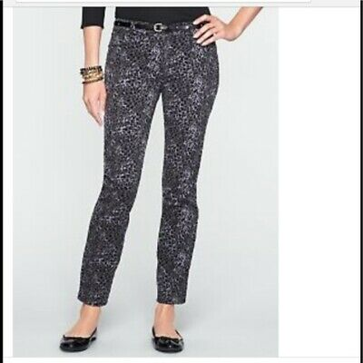 Talbots Grey Black Animal Print Heritage Jeans 16W