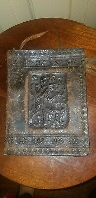 Antique Italian Embossed Tooled Leather Book Cover