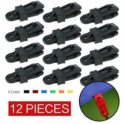 Heavy Duty Tarp Clips 12 Pieces, Multi-Purpose Awning Clamps Set Strong Lock Up