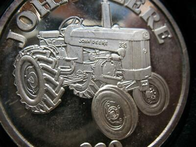 1-OZ.JOHN DEERE MODEL B TRACTOR CHRISTMAS GIFT.999 PROOF EDT SILVER COIN+GOLD