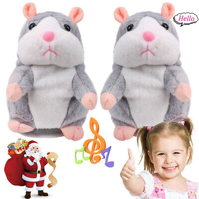 2 PCS Talking Hamster Electronic Plush Toy Mouse Pet Sound Gift Children Cute