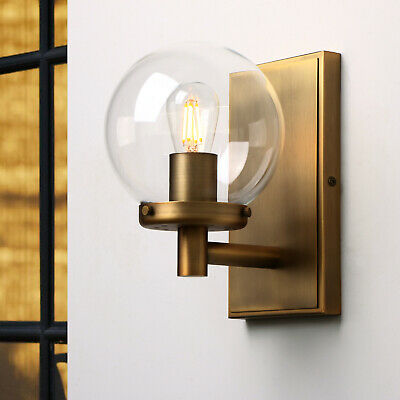 Retro Edison Industrial Ball Glass Sconce Bedroom Antique Loft Wall Light