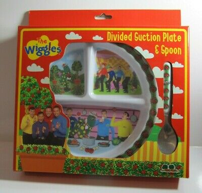 The Wiggles Melamine Divided Suction Plate and Spoon