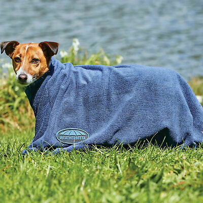 Weatherbeeta Dry Bag Pet Accessory Dog Towel - Navy All Sizes