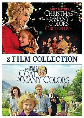 DOLLY PARTON'S COAT OF MANY COLORS + CHRISTMAS OF MANY COLORS New DVD