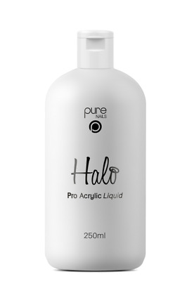 Halo Pure Nails Acrylic PRO Liquid - 250ml  *PRO VERSION*  Faster Setting Time