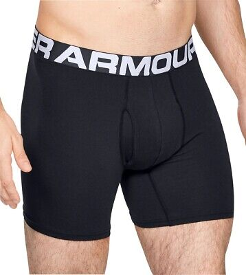 Under Armour Charged Cotton (3 Pack) Mens Boxer Jock - Black