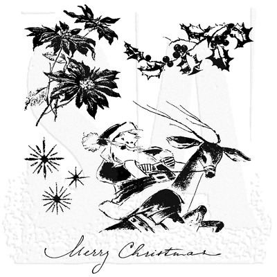 Merry Misfits Tim Holtz Stampers Anon CMS387 Cling RBBR Stamp Set MISF