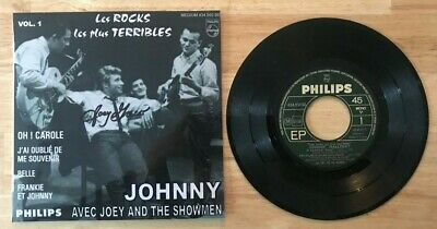 Rare Ep Johnny Hallyday Philips 434.950 Oh! Carole Signe Par Joey Greco