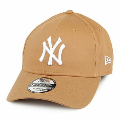New Era 9FORTY New York Yankees Baseball Cap - MLB League Essential - Wheat