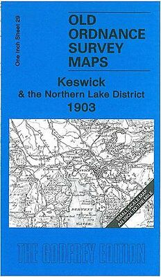 Old Ordnance Survey Map Keswick & The Northern Lake District 1903