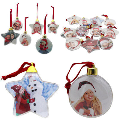 Round Five-star Photo Frame Pendant Hanging Picture Holder Christmas Ball