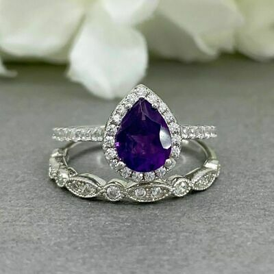 2.6cts Amethyst 925 Sterling Silver Ring Jewelry s.7 R5122A-7