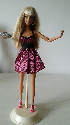 Barbie Fashionista 2009 Articulated First Wave Wild Doll Original Dress Shoes