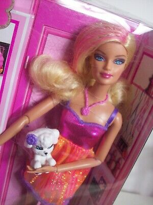 Barbie Fashionista Articulated Doll w Pet Dog & Accessories Dress Shoes NRFB