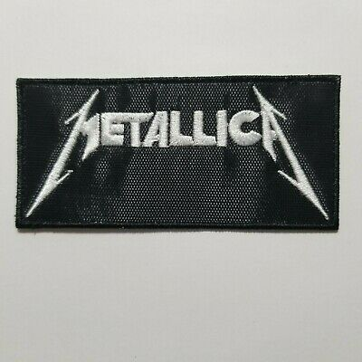 Metallica White Logo Embroidered Patch