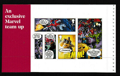 GB 2019 1st CLASS & £1.45 MARVEL COMICS BOOKLET PANE MNH from DY29