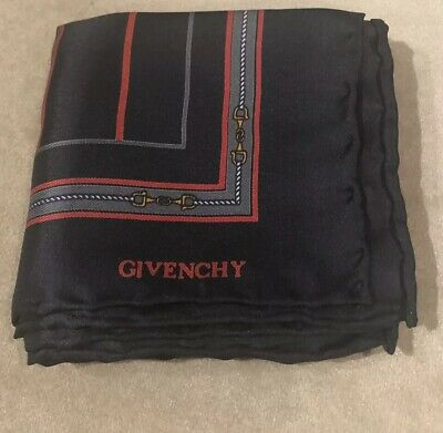 Givenchy Silk Classic Navy Men's Square Pocket