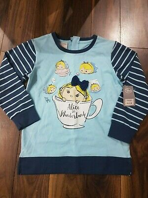 NEW! Ladies Girls DISNEY STORE Alice Tsum Tsum Sweatshirt Top £24.99 XS UK 8