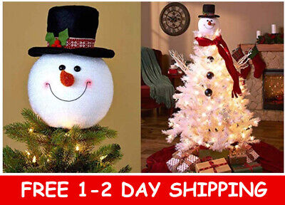 Frosty Snowman Top Hat Christmas Tree Topper Decor Holiday Winter Wonderland