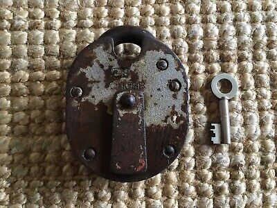 Vintage CHUBB Heavy Weight Metal Chunky Padlock with Key