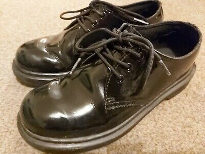 Girls Dr Marten Patent School Shoes Size 1.5  - Lightly Worn