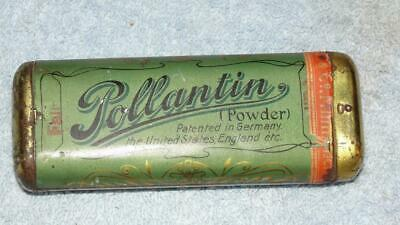"1906 Dr. Dunbar Pollantin Hay Fever Tin w/ Contents Schimmel Germany 4"" x 1 1/2"""