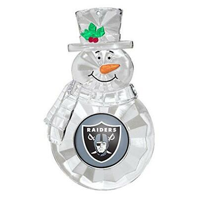 Oakland Raiders Football Team NFL Traditional Snowman Christmas Tree Ornament