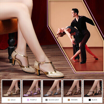Women Ladies Latin Dance Shoes High Heels Ballroom Tango Salsa Dance Party 6CM
