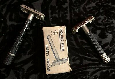 Vintage Safety Razors Schick Gillette Double Edge Razor Lot (3)