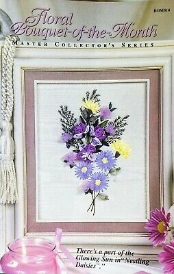 Floral Bouquet-of-the-Month - Flower Ribbon Embroidery Kit -OOP Nestling Daisies