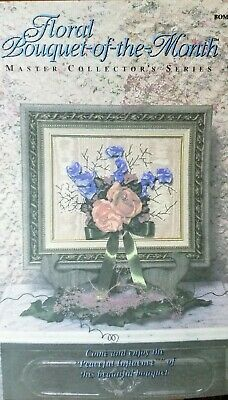 """Floral Bouquet-of-the-Month - Flower Ribbon Embroidery Kit -OOP """"Peaceful"""""""