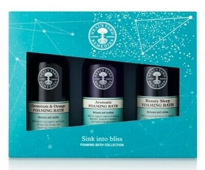 Neal's Yard Remedies Sink into Bliss Foaming Bath collection 3 x 100ml BBE 05/22