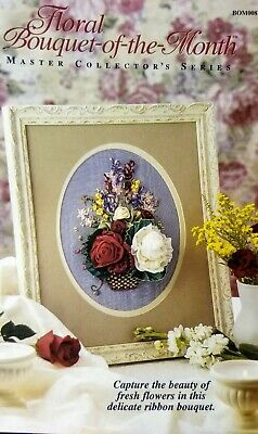 Floral Bouquet-of-the-Month - Flower Ribbon Embroidery Kit-OOP Master Series
