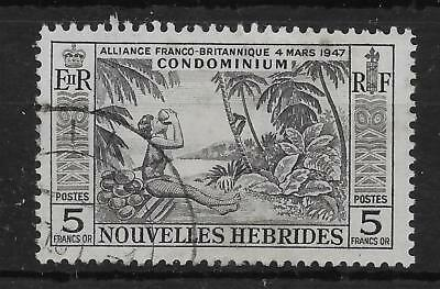 NEW HEBRIDES (FRENCH) SGF106 1957 5f BLACK USED
