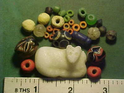 30+ ancient beads circa 1000 BC-1700 AD + A Mesopotamian amulet 3rd century BC