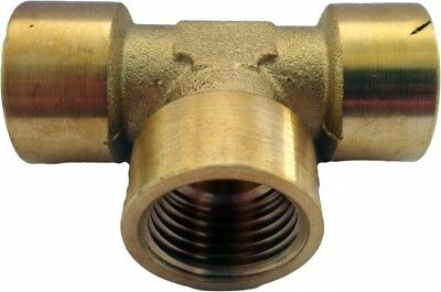 FETN12 Brass Equal Tee Fitting NPT Female 3/4""