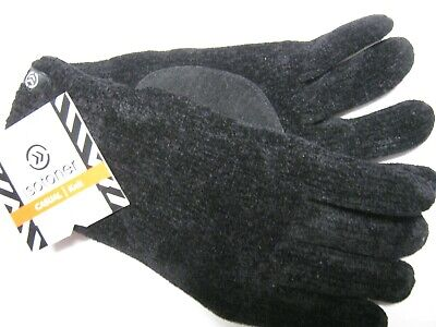 ISOTONER THINSULATE PLATINE LINED WOMEN CASUAL KNIT WINTER GLOVES BLACK One Size