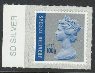 GB 2019 100g SPECIAL DELIVERY CODE M19L SBP2i MACHIN SD SILVER on SELVEDGE MNH