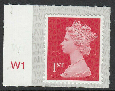 GB 2019 1st CLASS S/A MACHIN M19L CYLINDER W1 on SELVEDGE MNH From Counter Sheet