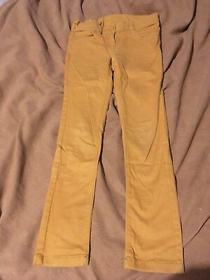 Next Girls Yellow Trousers Size 8 Years Great Condition