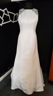Ivory, illusion back,  Wedding Gown by Hilary Morgan, size 16, NWT